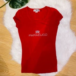 Parasuco Red Short Sleeve Top XS